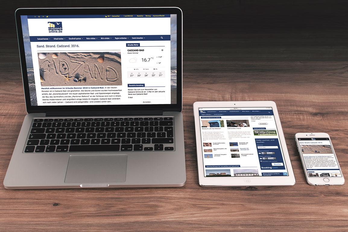 Cadzand-Online.de published by freshmademedia